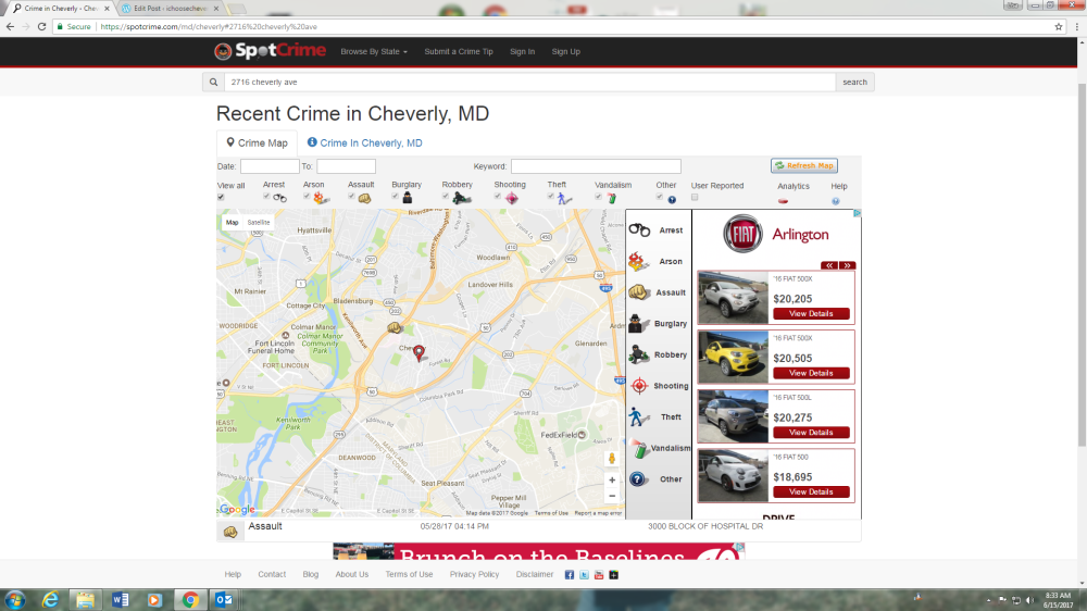 Crime in Cheverly